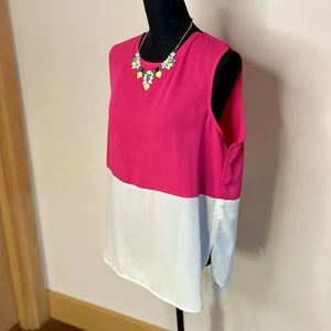 C. Luce Pink & Cream Block Color Blouse💖